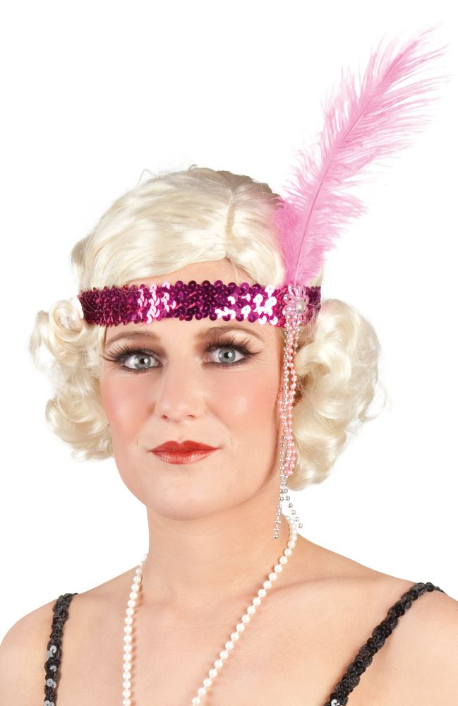 3448965e Detalles de Mujer Flapper Lentejuelas Diadema de plumas charleston años 20  30s