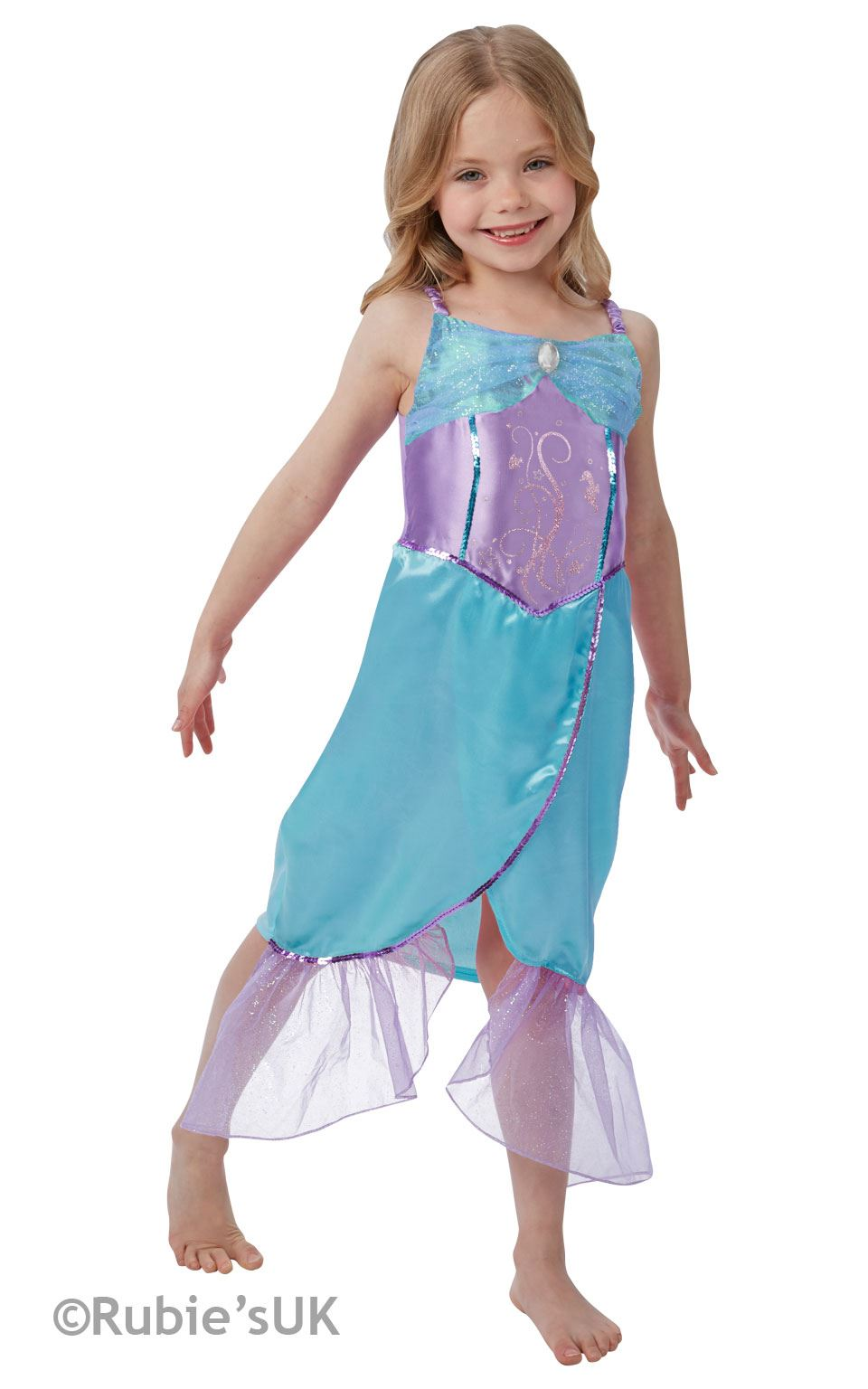 Girls-Blue-Little-Mermaid-Ariel-Book-Week-Fancy-  sc 1 st  eBay & Girls Blue Little Mermaid Ariel Book Week Fancy Dress Costume Child ...