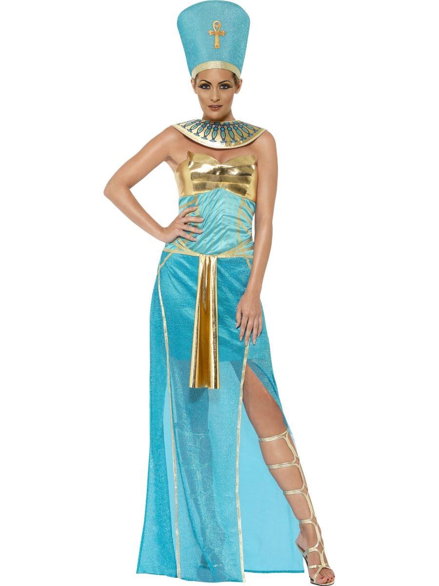 Ladies Egyptian Goddess Costume Queen Halloween Fancy Dress Egypt ...