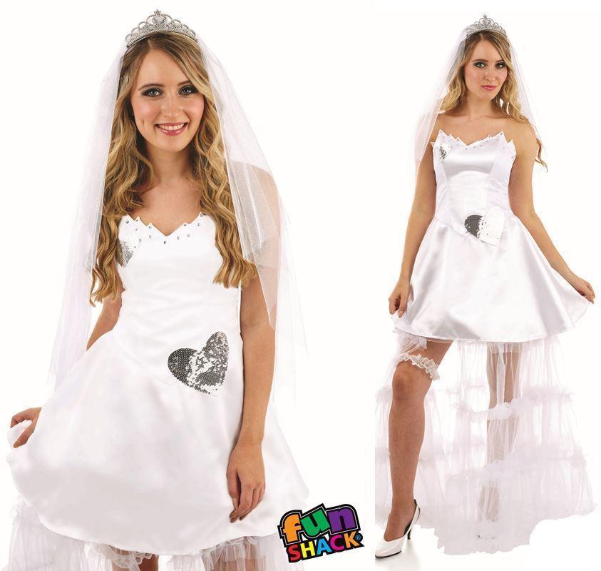 Ladies Bride Costume Womens Adults Wedding Hen Party Night Fancy Dress Outfit Ebay,Wedding Pakistani Women Dress