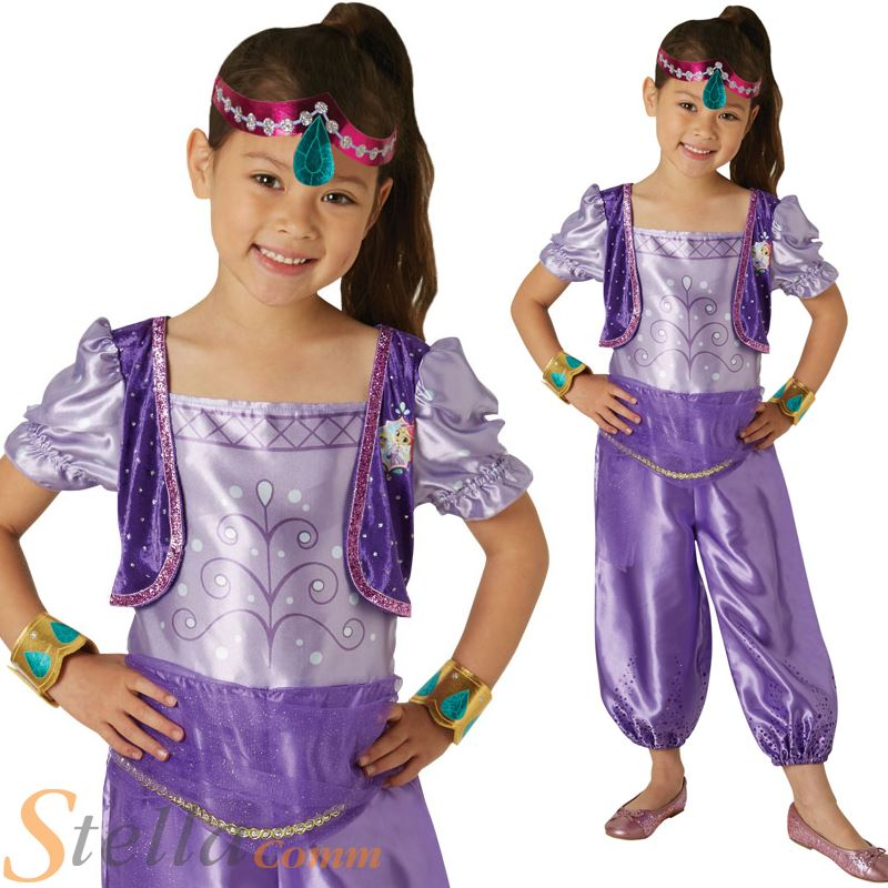 6d5db74d92d Details about Girls Shimmer & Shine Shimmer Fancy Dress Costume Book Day  Genie Child Outfit