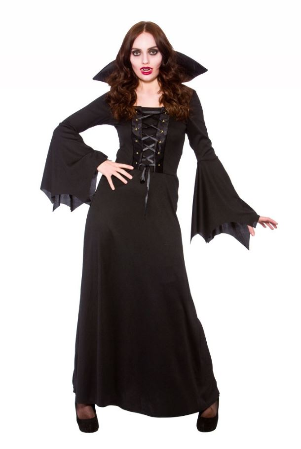 Ladies-Dark-V&iress-Dracula-Costume-Halloween-V&ire-Fancy-  sc 1 st  eBay : dracula costumes for women  - Germanpascual.Com