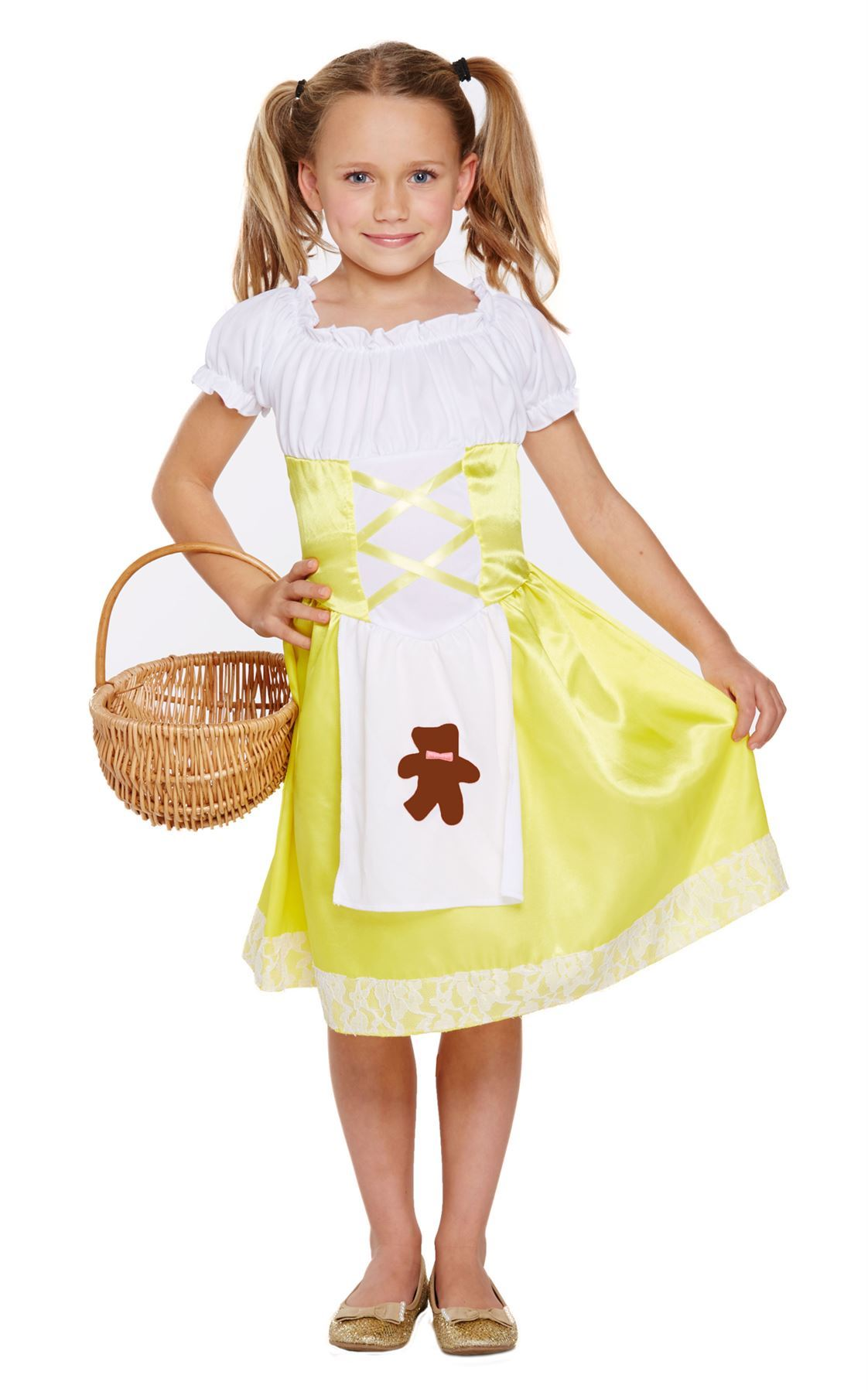 Girls Fancy Dress /'Book Week/' Goldilocks Costume