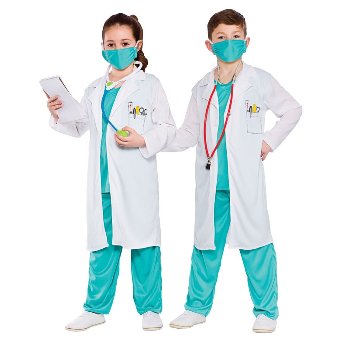 Child Hospital Doctor Nurse Surgeon Scrubs Fancy Dress Costume Boys Girls Outfit | eBay
