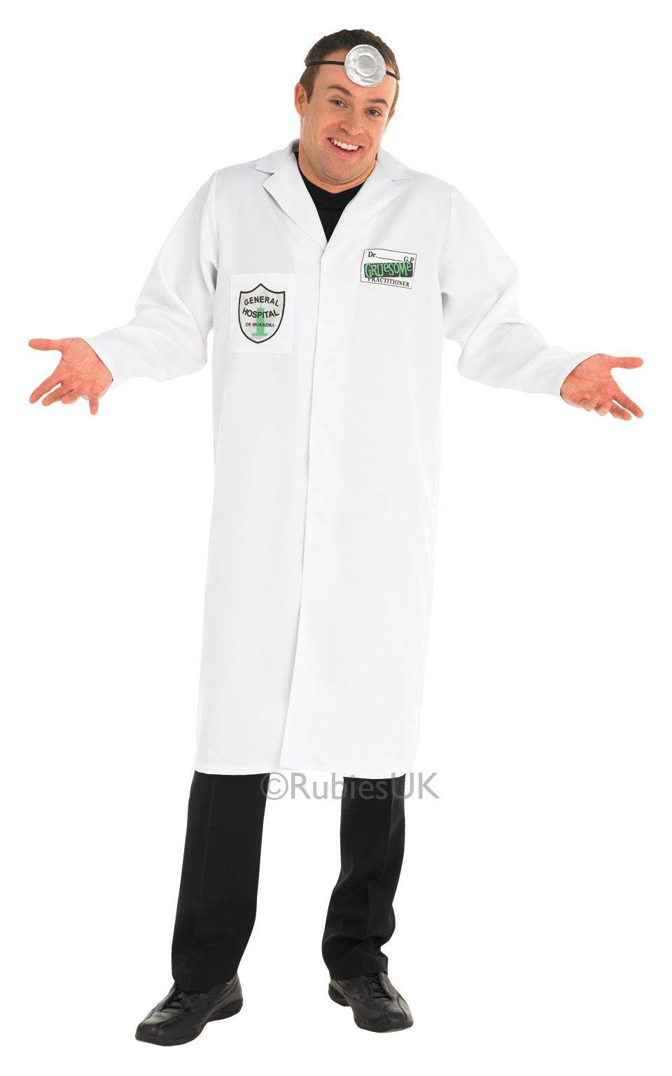 Mens-Gruesome-GP-Hospital-Doctor-Costume-Halloween-Fancy-  sc 1 st  eBay & Mens Gruesome GP Hospital Doctor Costume Halloween Fancy Dress ...
