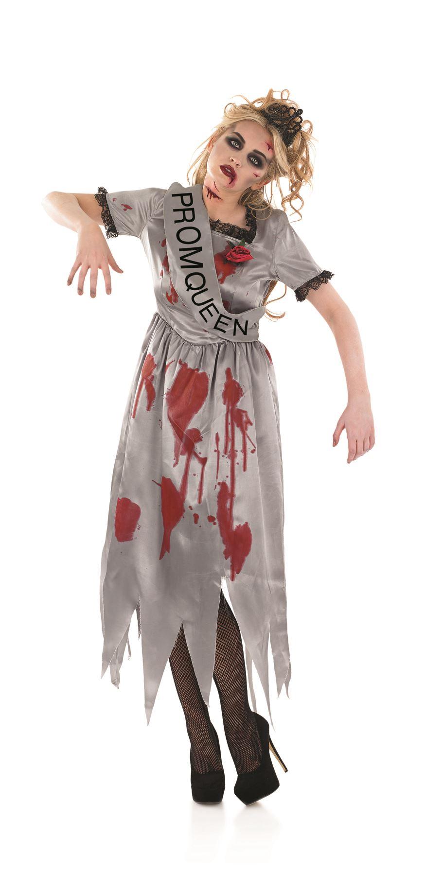 Halloween Costumes Dead Prom Queen | Ladies Zombie Dead Prom Queen Halloween Fancy Dress Costume Womens