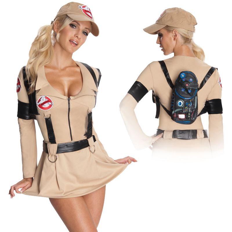 Ghostbusters Ladies Fancy Dress 1980s Halloween Movie Adults Costume Outfit