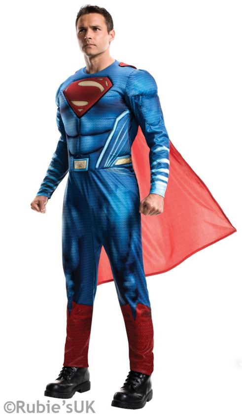 Superman para hombre Dawn of Justicia Disfraz Halloween Superhroe