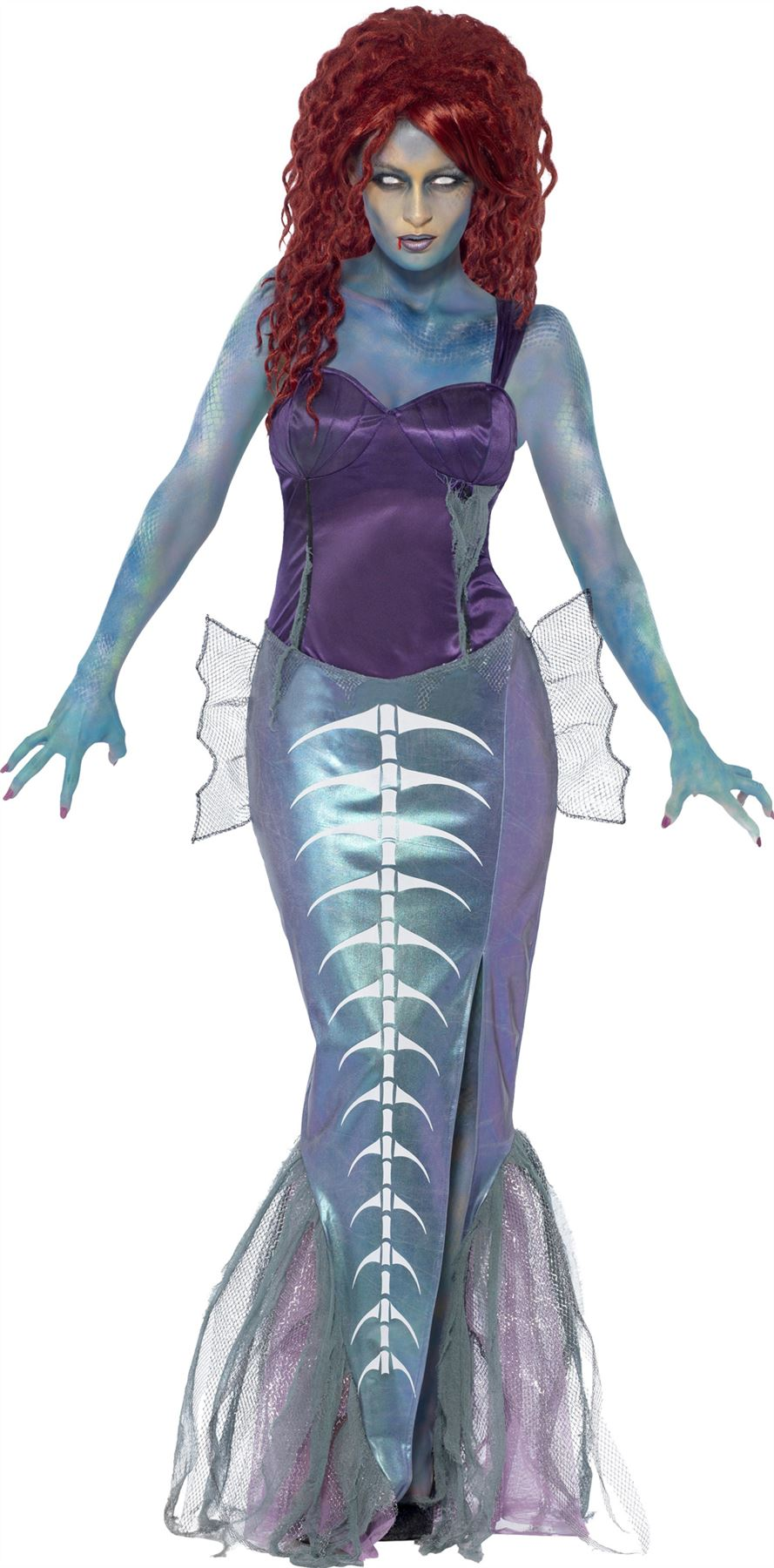 womens zombie mermaid costume undead halloween ariel fancy dress