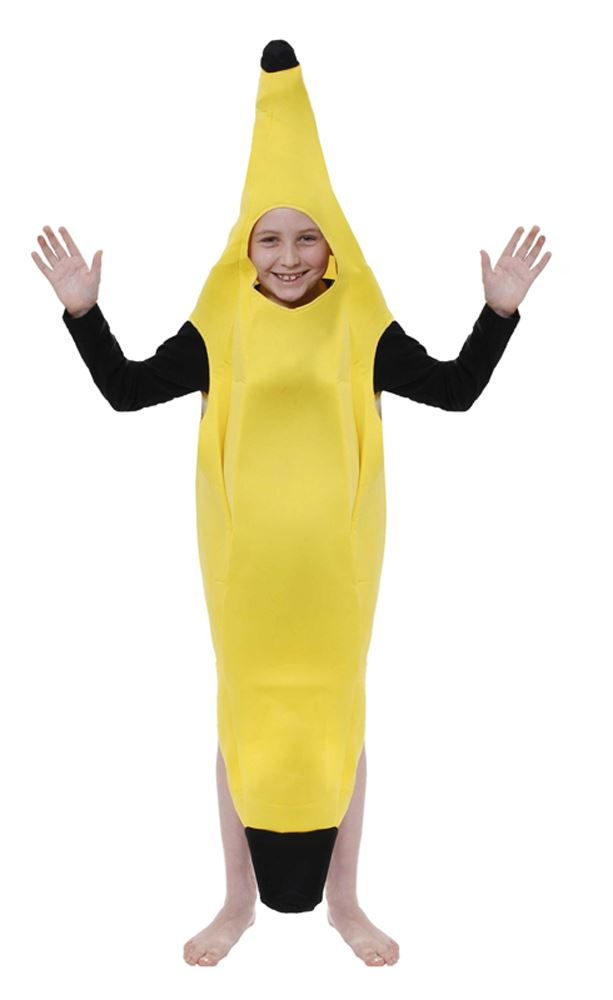 Kids-Banana-Fancy-Dress-Costume-Boys-Girls-Book-  sc 1 st  eBay & Kids Banana Fancy Dress Costume Boys Girls Book Week Halloween ...