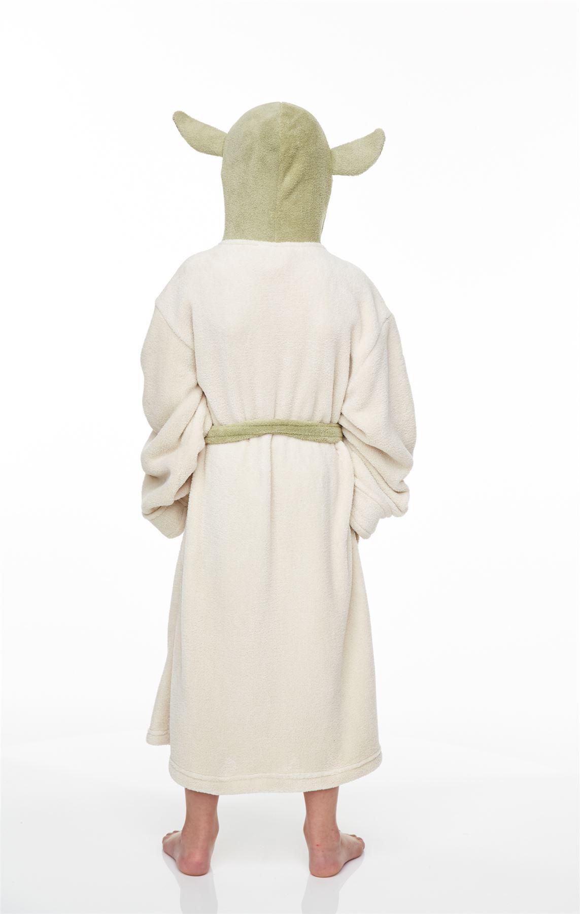 tailles enfant Star wars jedi yoda à capuche en polaire peignoir peignoir