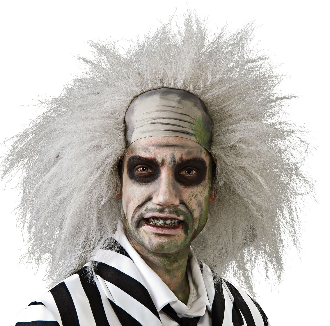 adult official beetlejuice grey wig halloween fancy dress costume