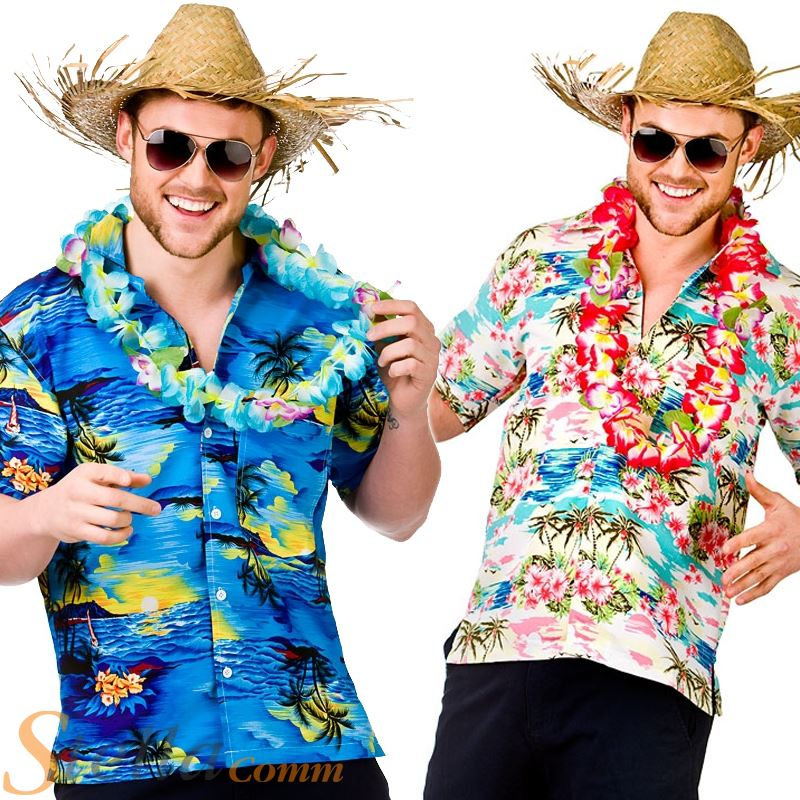 Camiseta Disfraz Hawaiana para hombre