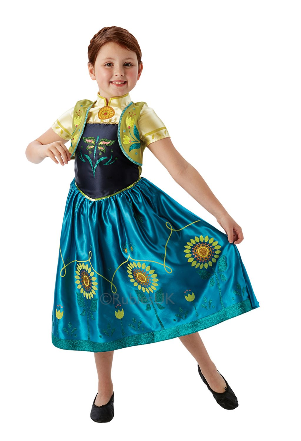 Girls-Licensed-Disney-Frozen-Fever-Anna-Elsa-Fancy-  sc 1 st  eBay & Girls Licensed Disney Frozen Fever Anna Elsa Fancy Dress Costume ...