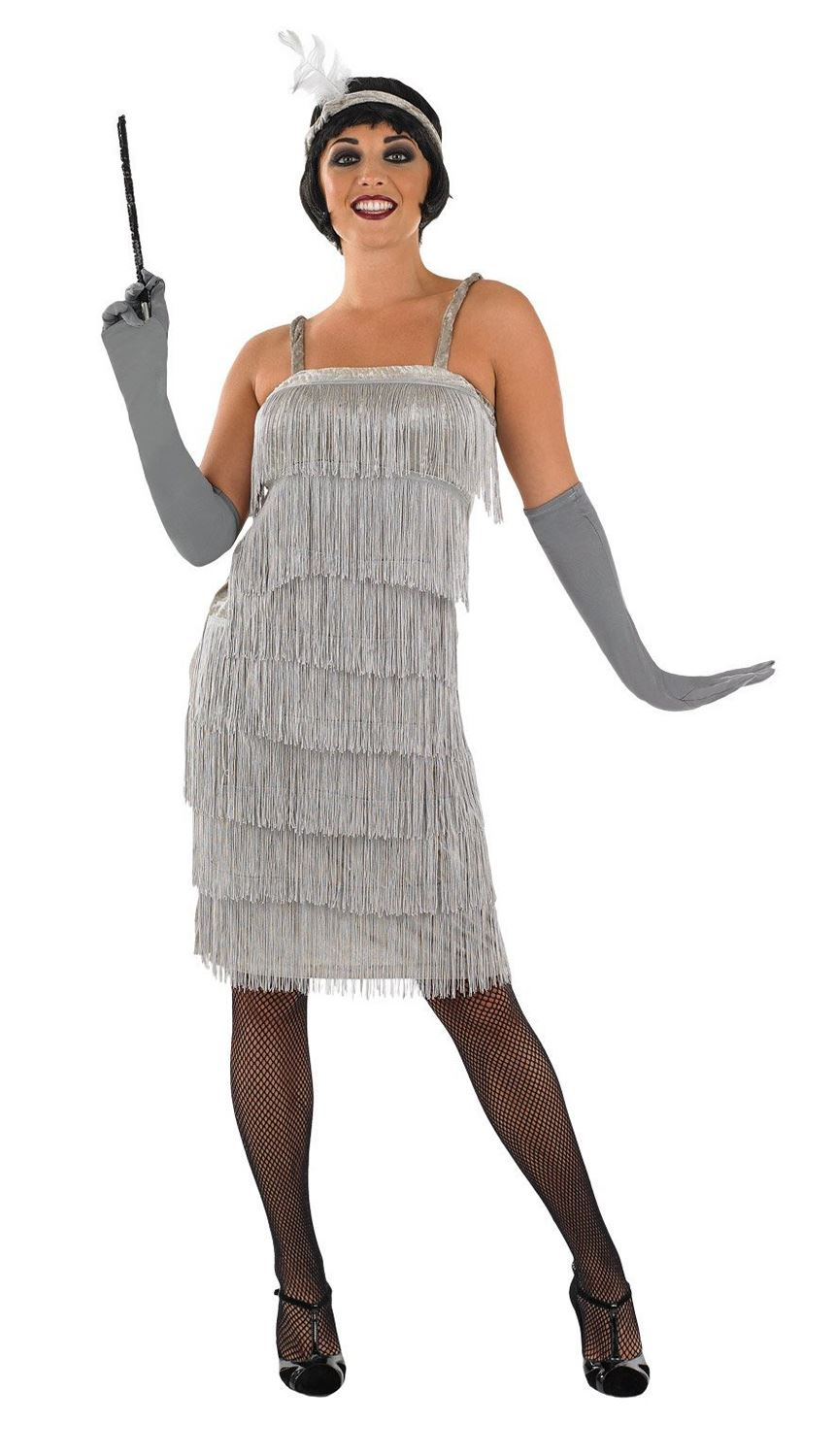 ladies charleston flapper 1920s fancy dress costume adult