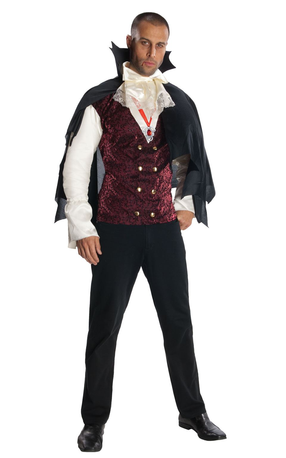 81f468dbe64 Details about Mens Vampire Costume Halloween Count Dracula Fancy Dress  Adult Outfit