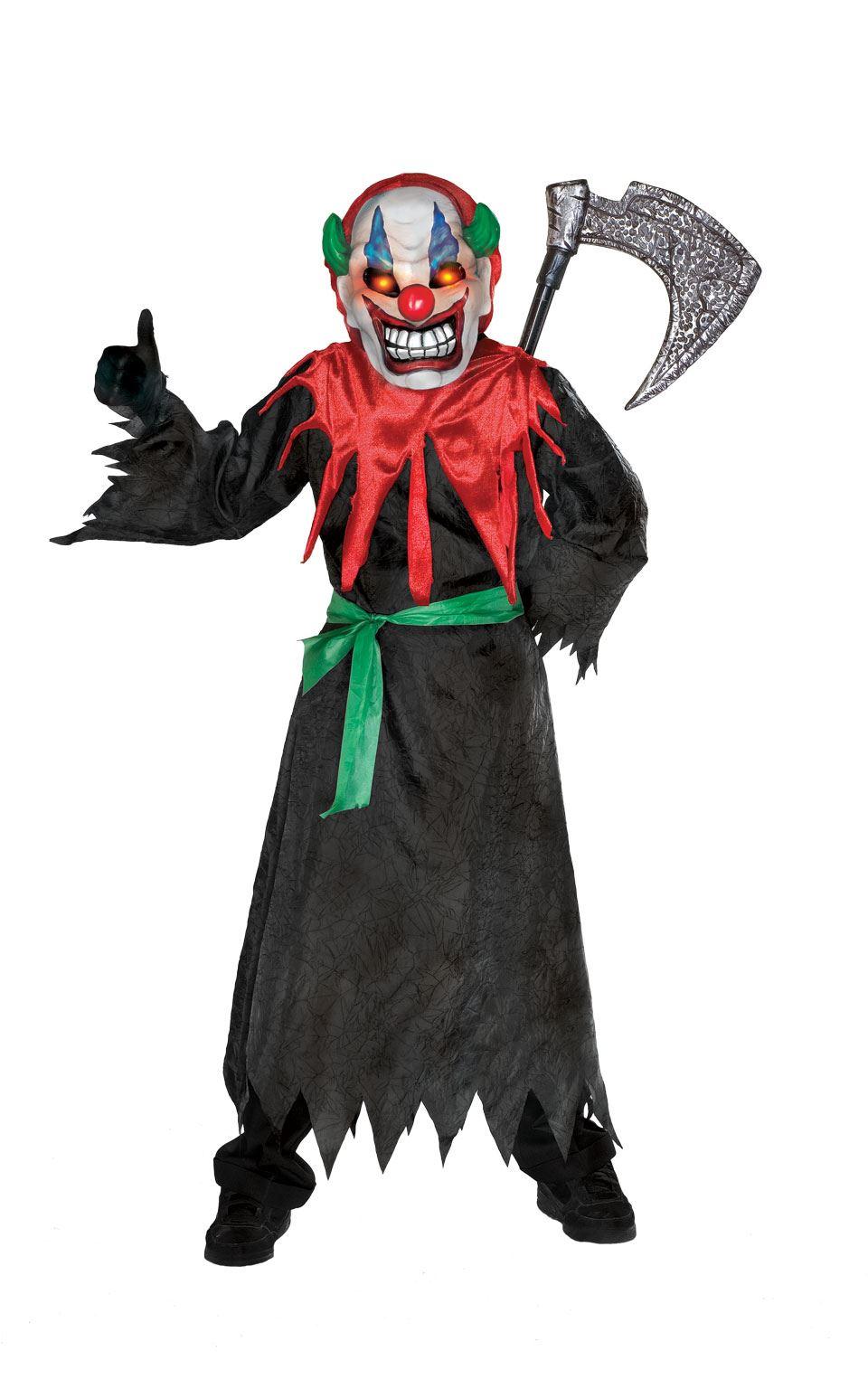kids crazy clown costume boys girls halloween fancy dress light up