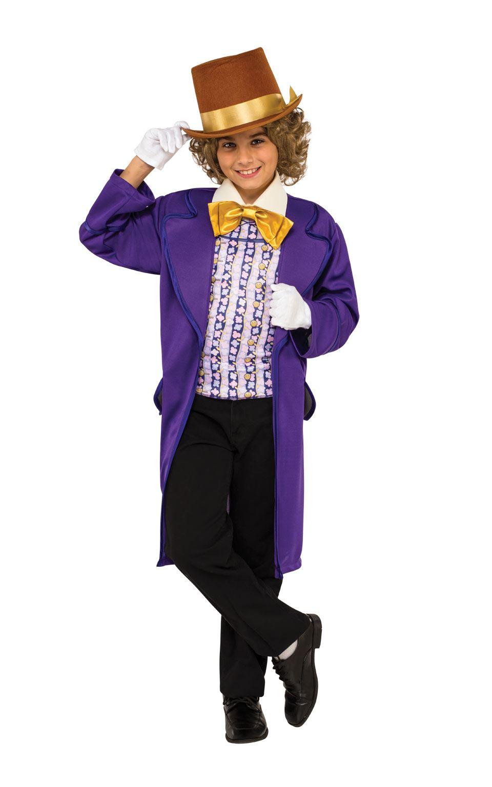 Niños Willy Wonka Disfraz Fábrica De Chocolate Roald Dahl Día Del ...
