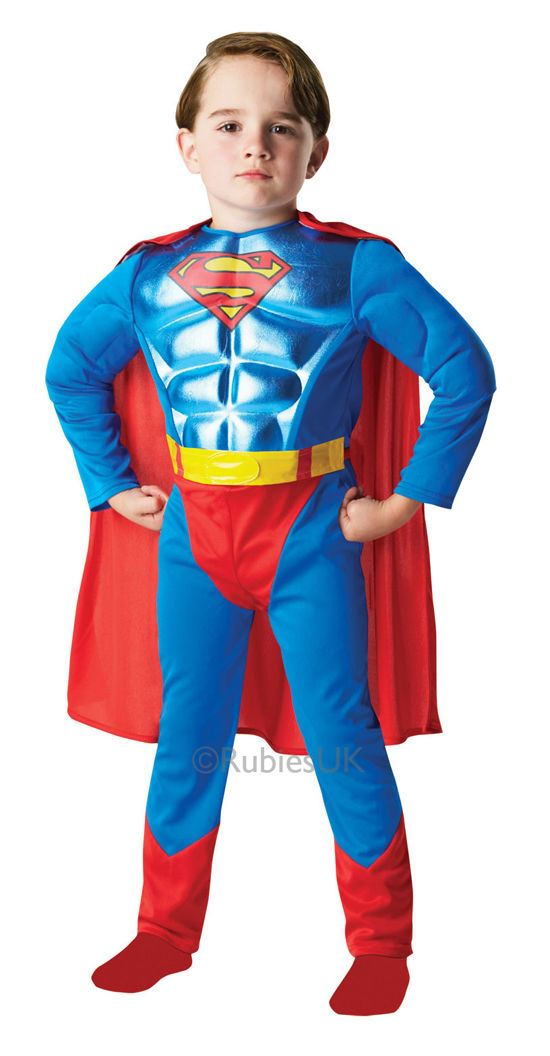 Boys-Deluxe-Child-Muscle-Chest-Superhero-Kids-Book-  sc 1 st  eBay & Boys Deluxe Child Muscle Chest Superhero Kids Book Week Fancy Dress ...
