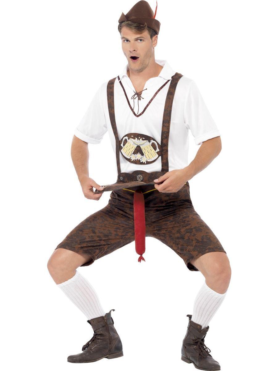 dd58c2dfd9 Mens Brad Wurst Oktoberfest Beer Man German Lederhosen Fancy Dress Costume