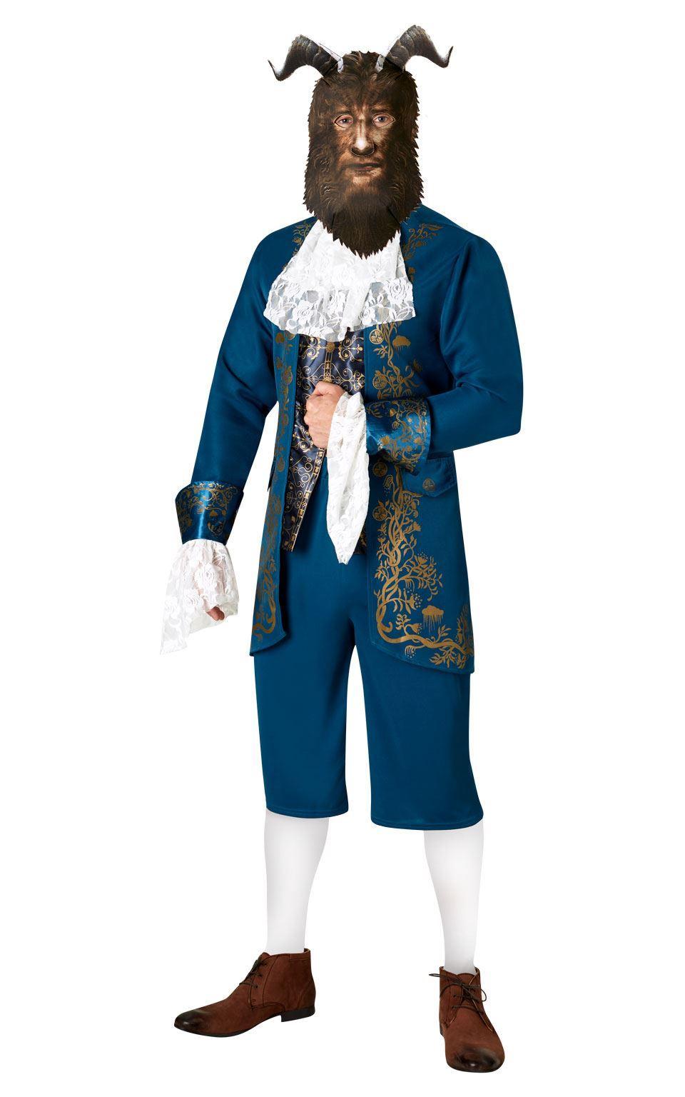 Mens Storybook Beast Costume Disney Fairy Tale Book Week Fancy Dress Outfit