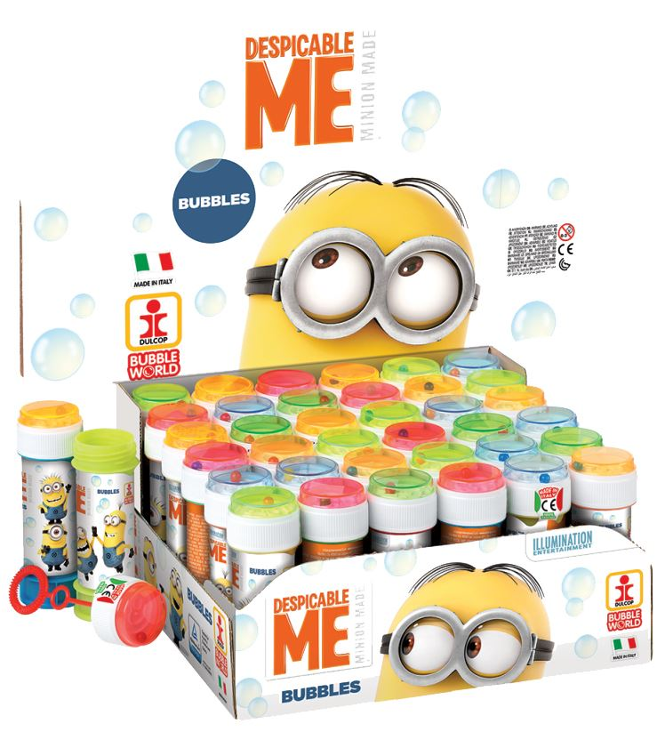 Despicable Me Minions Bubble Blowing Tubs Childrens Party Bag Filler ...