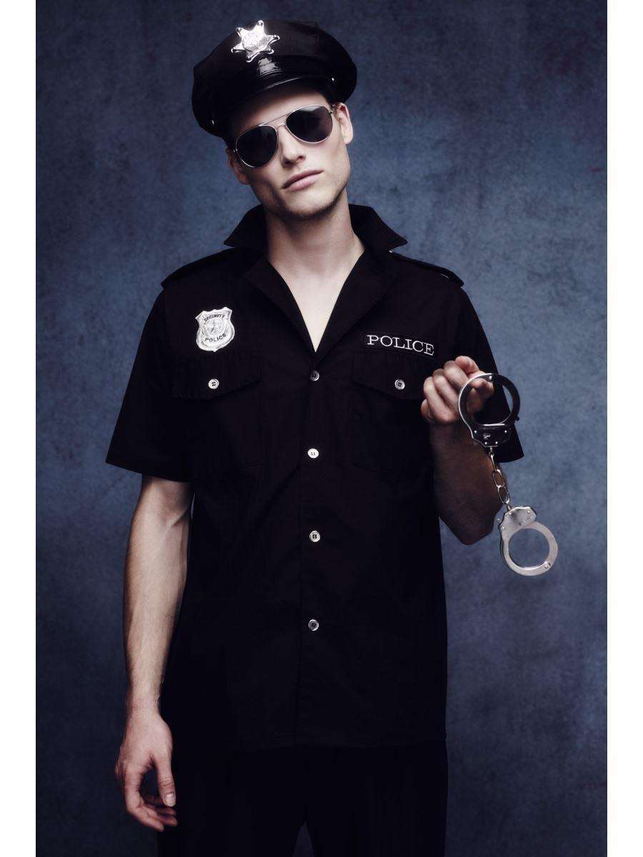 Mens-Fever-Cop-Police-Policeman-Uniform-Fancy-Dress-  sc 1 st  eBay & Mens Fever Cop Police Policeman Uniform Fancy Dress Costume Adult ...
