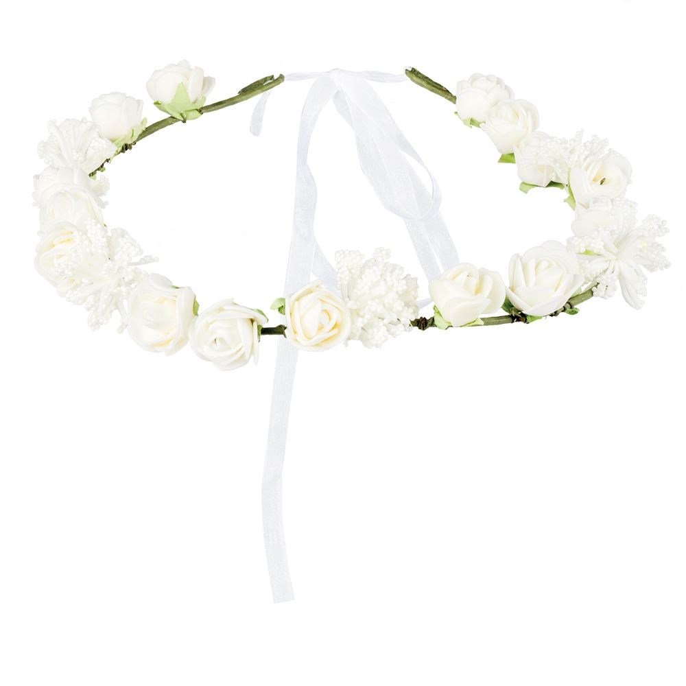 1970s Hippy Girl White Flower Headband Ebay