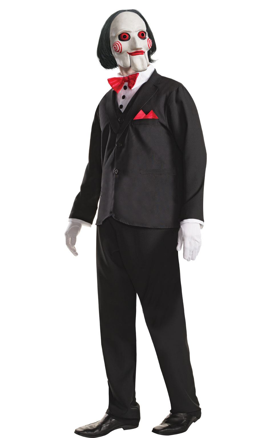 mens saw billy puppet costume jigsaw halloween adult horror fancy dress outfit ebay. Black Bedroom Furniture Sets. Home Design Ideas