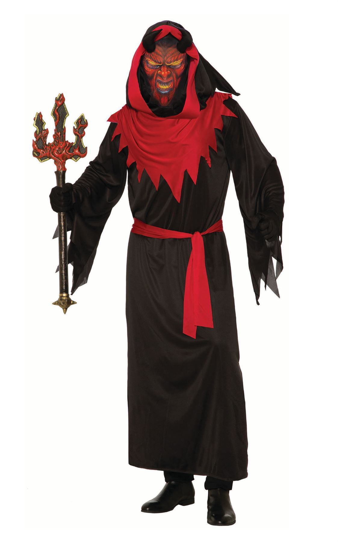 Adult Demon Master Costume Mens Devil Halloween Fancy Dress Outfit
