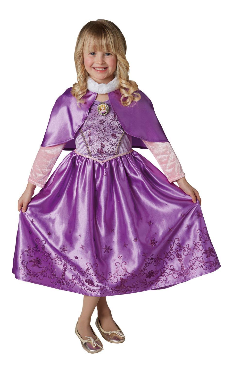 Invierno Niña Rapunzel Disfraz Princesa Disney disfraz | eBay