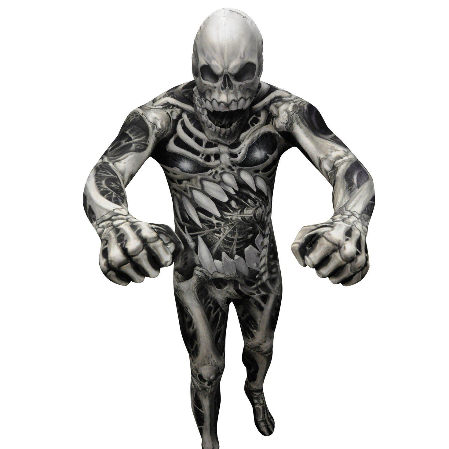 Hombre-Adulto-Morphsuits-Halloween-Monster-Horror-Disfraz-Trajes