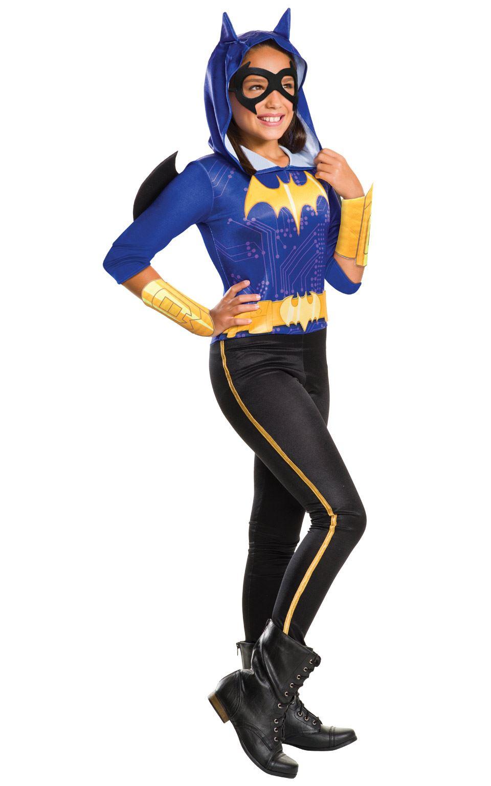 Girls-Batgirl-Costume-Superhero-Batman-Child-Halloween-Fancy-  sc 1 st  eBay & Girls Batgirl Costume Superhero Batman Child Halloween Fancy Dress ...