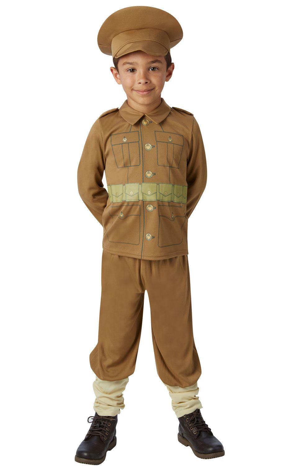 Garcons-WW1-soldat-costume-guerre-mondiale-historique-armee-fancy-dress-outfit