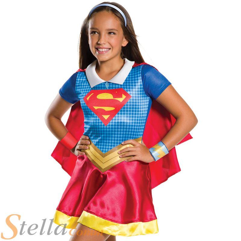 092a18b3a5f57 Jeunes filles Supergirl Costume super-héros DC Comics enfant déguisement