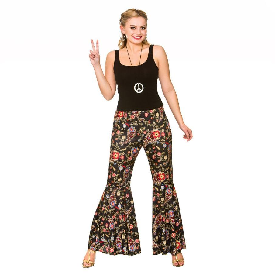 ahorrar venta limitada gran calidad Detalles de Mujer Hippy Pantalones Acampanados AÑOS 60 AÑOS 70 Disfraz  Hippy Acampanados