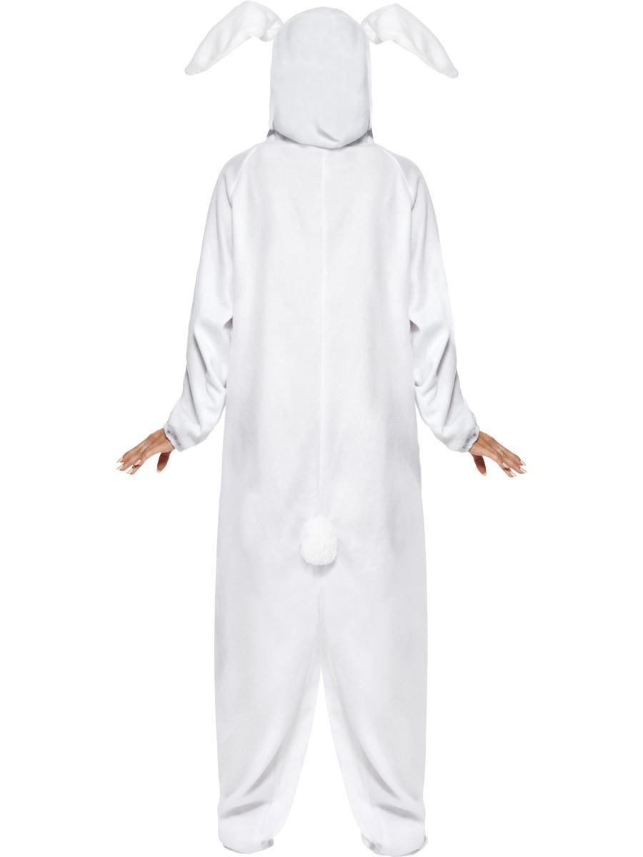 Lapin Costume-Bunny Fancy Dress Blanc Pâques Homme Adulte Femmes Costume De Fête