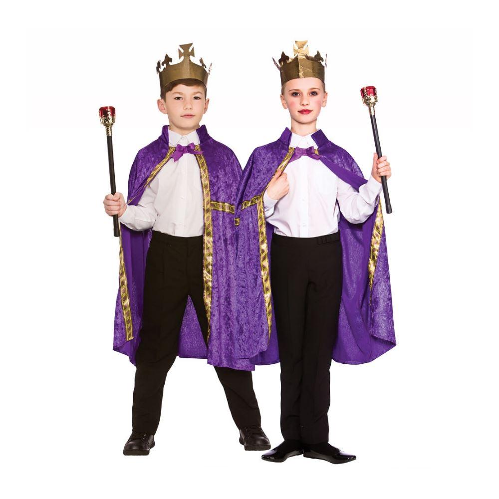 infantil Rey y Reina Bata capa Disfraz infantil Belén Disfraz | eBay