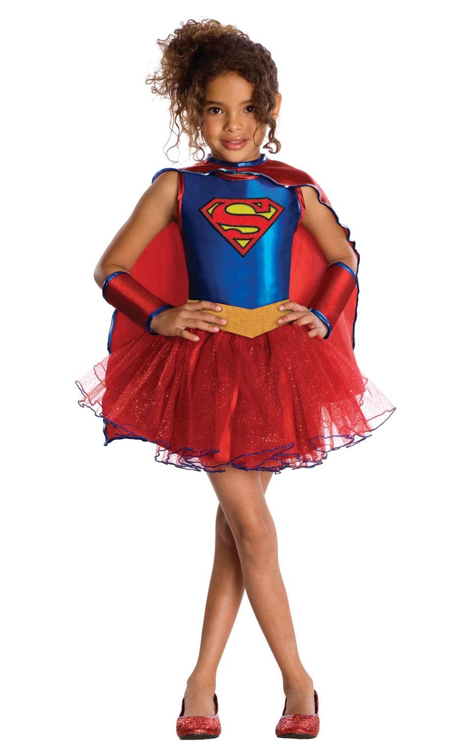 girls supergirl tutu costume superhero child fancy dress - Super Heros Fille
