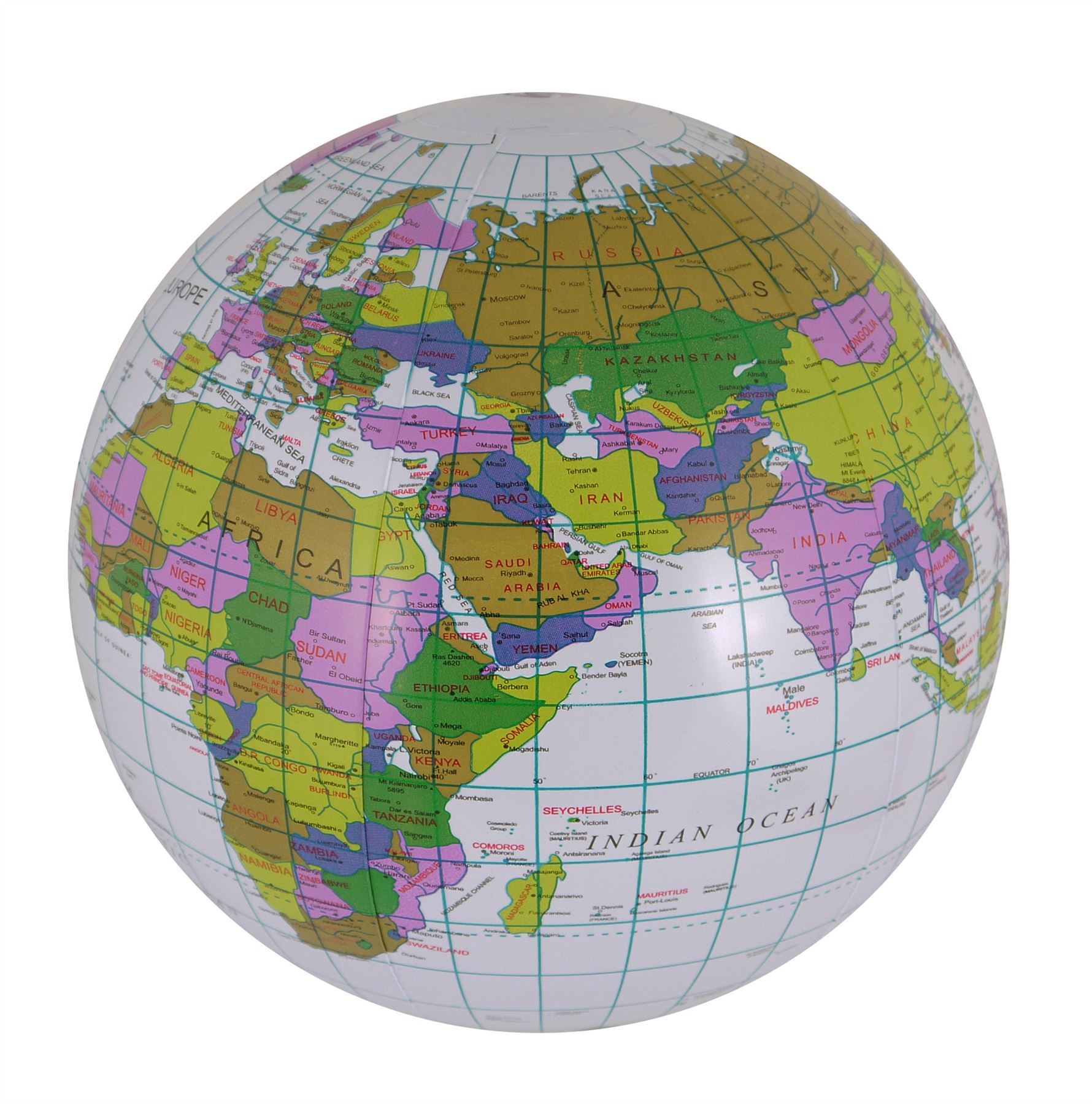 Inflatable globe atlas world map earth educational learn 40cm beach inflatable globe atlas world map earth educational learn 40cm beach ball gumiabroncs Images