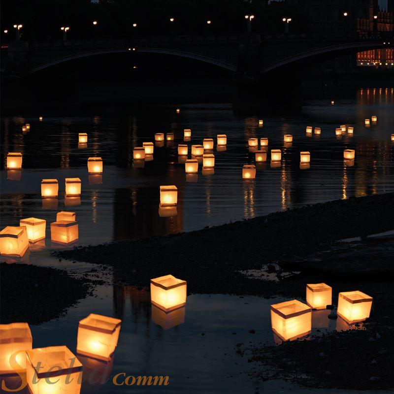 10 floating water lanterns lantern candle tea lights garden wedding 696575176457 ebay. Black Bedroom Furniture Sets. Home Design Ideas