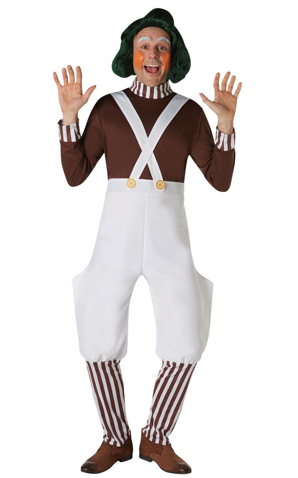 Oompa Lumpa Green Wig,Charlie and the Chocolate Factory,Fancy Dress,Halloween