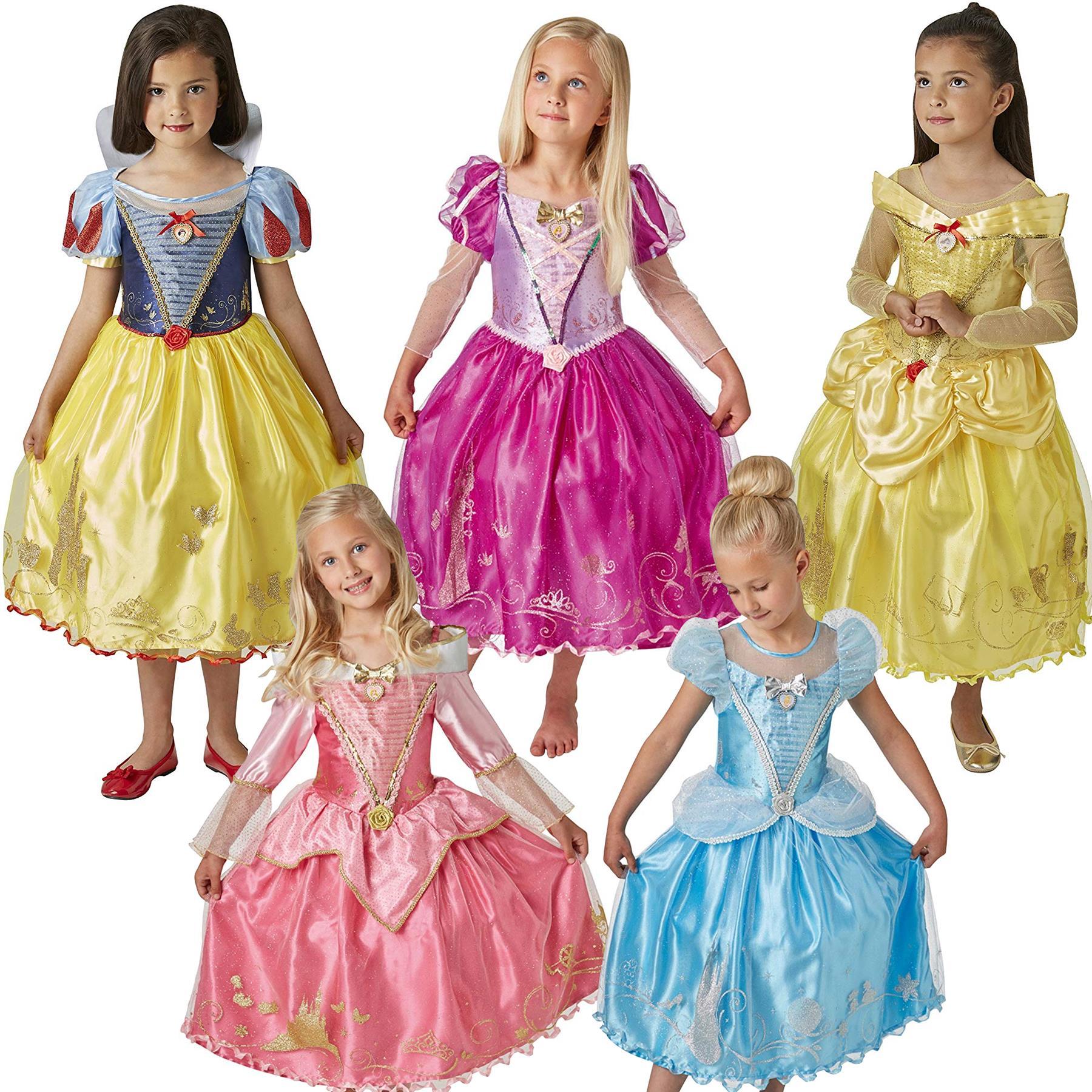 Official Disney Princess Ballgown Costumes Girls Child Fancy Dress Ebay