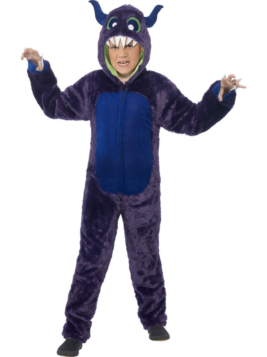 child deluxe monster costume halloween boys girls fancy dress outfit