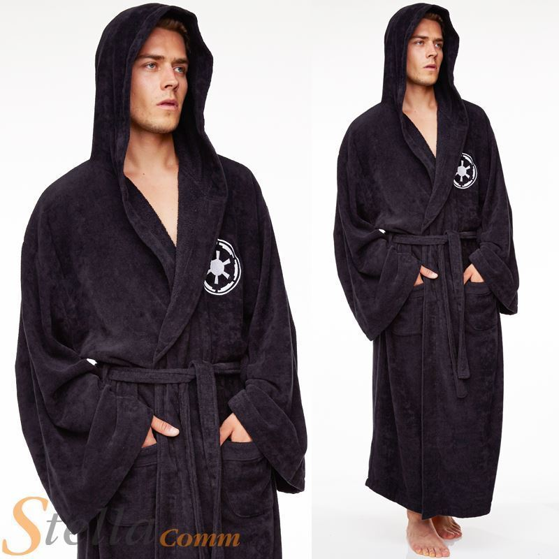 Star Wars Galactic Empire Bathrobe Adult Official Sith Fleece ...