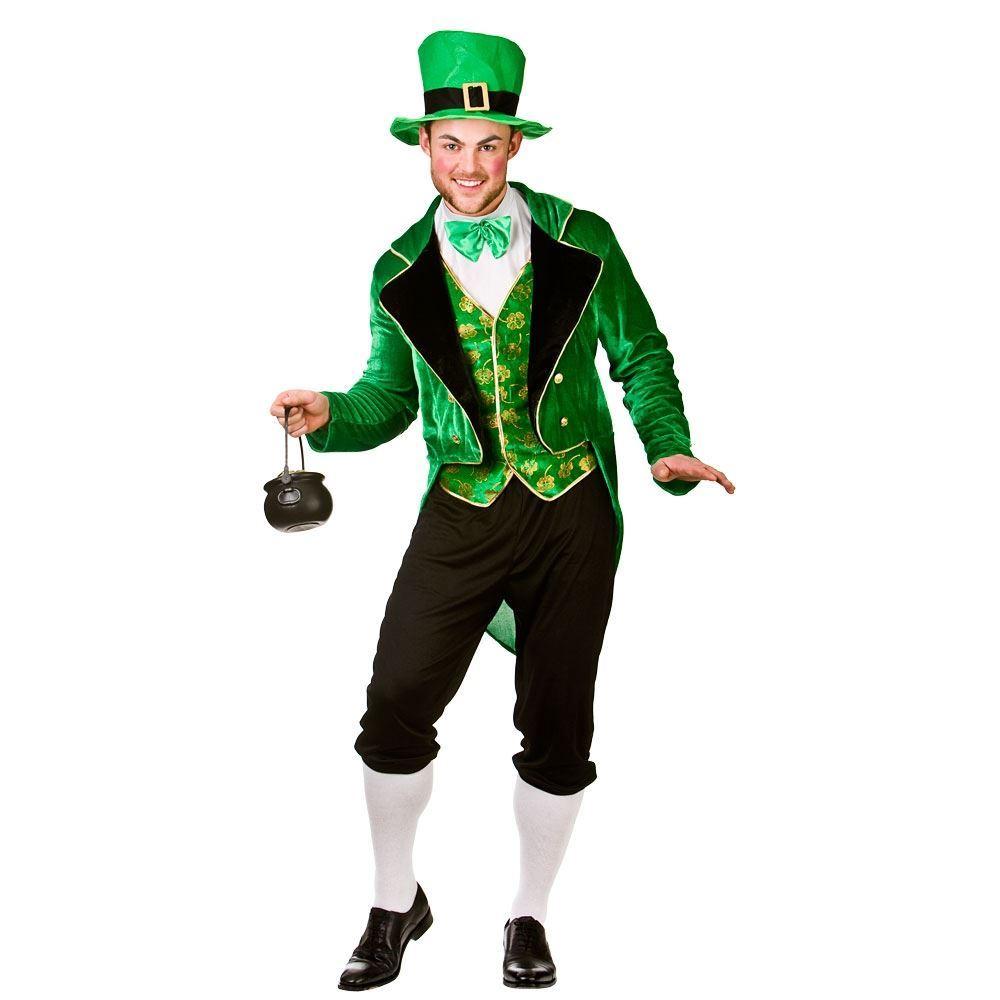 0c1186fa Mens Deluxe Leprechaun Irish St Patricks Day Fancy Dress Costume Adult  Outfit