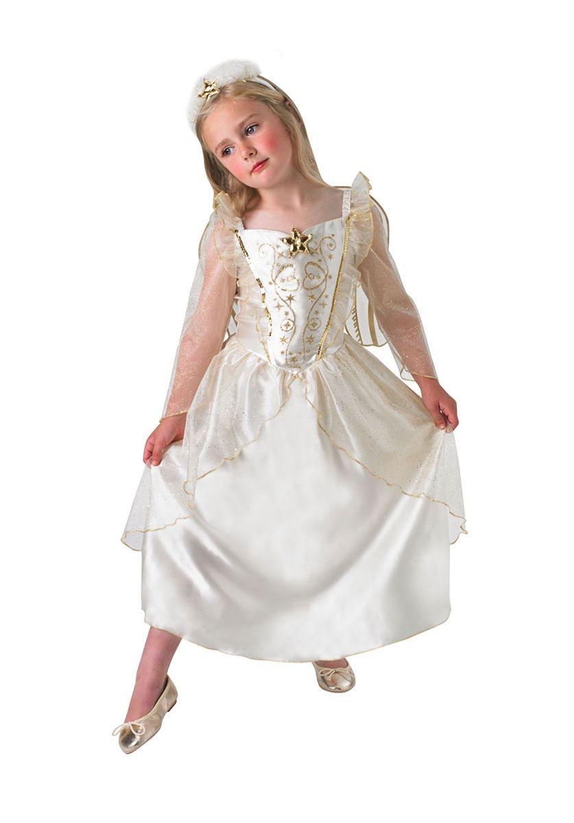 de lujo para nias ngel Beln Navidad Disfraz con alas eBay