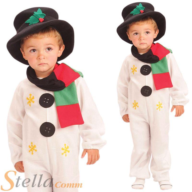 4b585ee2f Infantil Muñeco De Nieve Disfraz Navidad Frosty Disfraz Mono Traje ...