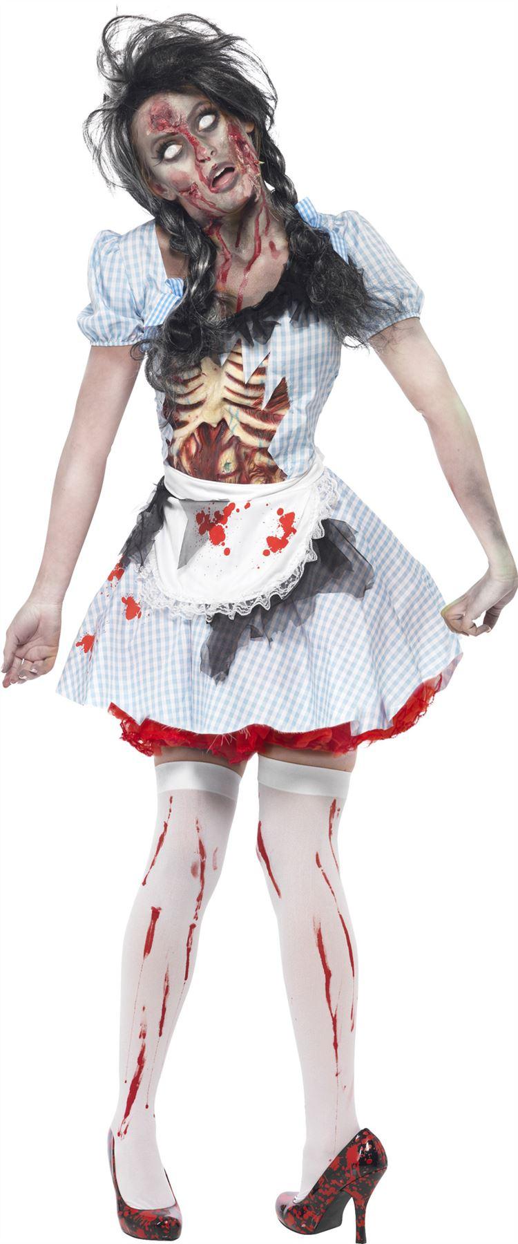 de zombie para Dama Disfraz Dorothy miedo Halloween Mujer Adulto eBay