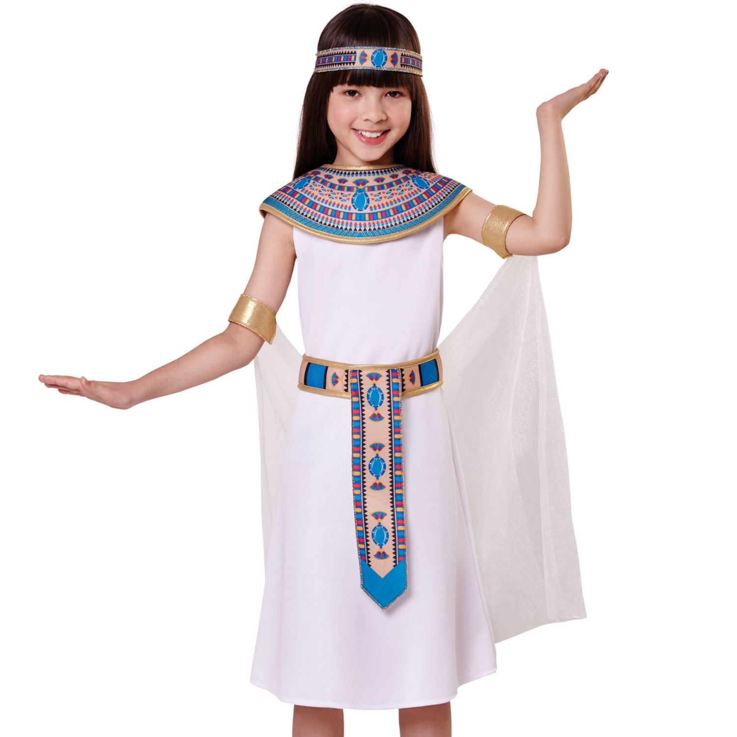 acf309a38fb Details about Egyptian Girl Costume Cleopatra Book Week Day Child Fancy  Dress Outfit Kids
